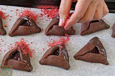 Chocolate-Covered Strawberry Hamentashen | From OhNuts.com