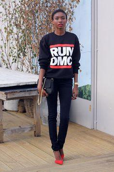 Run DMC (by Natasha  Ndlovu) http://lookbook.nu/look/4061466-Run-DMC