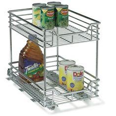 Household Essentials Glidez 2-Tier Chrome Sliding Cabinet Organizer, 11 1/2-Inch Wide Household Essentials http://www.amazon.com/dp/B002PL9L2A/ref=cm_sw_r_pi_dp_9QfNvb0ACNCEV