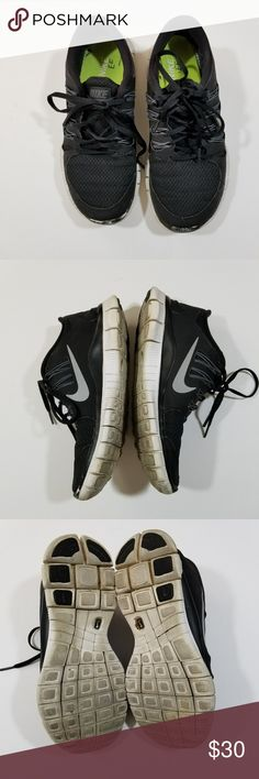 Nike Free 5.0+ womens Running shoes Size 6.5 black Nike Free 5.0+ womens Running shoes Size 6.5 black metallic silver 580591 002  Type: Footwear  Style: running shoes  Brand: Nike  Size: US 6.5  Color: black, metallic silver, white  Condition: pre-owned  Country of Manufacture: Vietnam  No.: O17-003  Please check measurements, pictures, and description.  Send us an offer! Thank you for looking and check out my other items! Nike Shoes Athletic Shoes