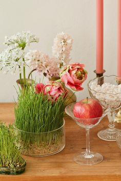 Persian Decor, Haft Seen, Lab, Cozy Aesthetic, Persian Culture, Toddler Boy Fashion, Wedding Table Decorations, Iranian, Easter
