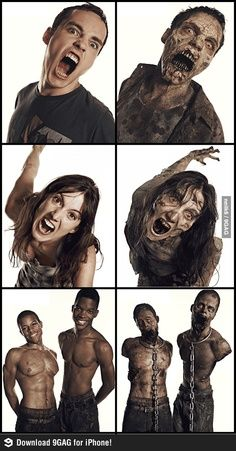 The+Walking+Dead+Zombies+Before+and+After+Makeup | The Walking Dead: Zombie Transformations