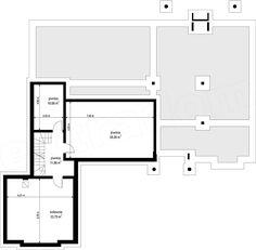 Rzut piwnicy projektu Rezydencja Parkowa 3 Precast Concrete, Concrete Walls, Home Design Floor Plans, My House Plans, Construction, Planer, New Homes, House Design, How To Plan