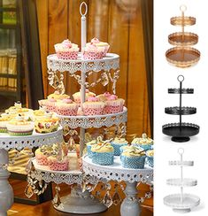 Fantastic Stand Cakes Decoration with Cupcake Stand Metal Cake Dessert Wedding Event Party Display Tower Plate Decorations Photo Cookie Decorating Party, Cake Decorating Supplies, Cupcakes, Birthday Party Decorations, Wedding Decorations, Cupcake Decorations, 3 Tier Cupcake Stand, Tier Cake, Belize