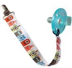 DIY - Soothie Pacifier Clip and Toy Holder White Monsters by babymajors