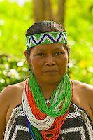 Embera Indian women in native costume at the Ellapuru village on the Chagres River, in Soberania National Park (near the Panama Canal), Panama | Blaine Harrington III