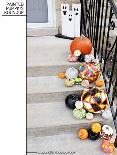 crab+fish: spookyDIY: painted pumpkins galore!