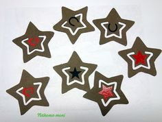 Naehoma - moni: Stern Lesezeichen aus SnapPap Primary School, Advent, Flag, Sewing, Christmas, Diy, Inspiration, Marque Page, Stars