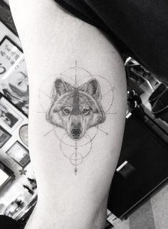 Dr. Woo Tattoo Artist   Half Needle Tattoo   Wolf