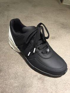 351345c92f20 Black Leather Sneakers Tennis White Sneaker 37 Sneakers