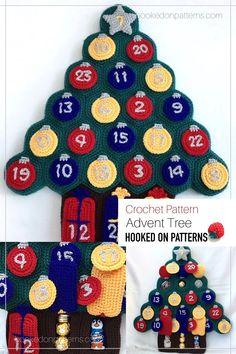 Christmas Tree Crochet Pattern - Xmas Crafts Ideas for 2021 - A fun advent calendar 2 Advent, Christmas Tree Advent Calendar, Christmas Countdown, Modern Crochet Patterns, Christmas Crochet Patterns, Crochet Christmas, Christmas Hat, Christmas Is Coming, Cool Advent Calendars