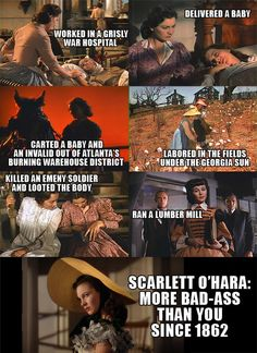 Scarlett O'Hara. Gone With the Wind. Feminism.