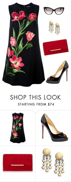 """Untitled #3373"" by elia72 ❤ liked on Polyvore featuring Dolce&Gabbana, Christian Louboutin, John Hardy and Tom Ford"