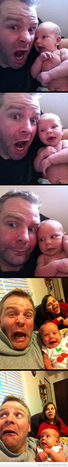 This Dad Taking Selfies With His Newborn Is The Cutest Thing Youll See Today. Oh my gosssshh