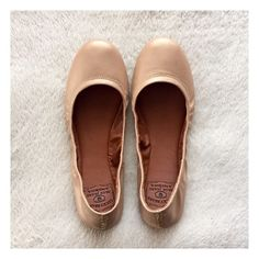 Flats   Lucky Brand Nude/gold flats by Lucky Brand.  So adorable and so versatile - these go with almost any outfit!   ❥ Size 7 1/2. ❥ Genuine leather. ❥ These were only worn once and are practically in PERFECT condition.  ❥ The only sign of wear is on the bottom and it is extremely light.  ❥ Reasonable offers are welcome! Lucky Brand Shoes Flats & Loafers
