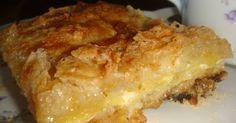 """Fabulosa receta para Torta seca de manzanas """"abuela pura"""" . La primera vez que vi hacer ésta torta a mi madre pensé que estaba mal de la cabeza... y ya van a ver por qué. La primera vez que la hice yo, pensé """"Ni en el año del arquero va a quedar bien"""". Y tanto en una como en otra oportunidad me di la naríz contra el orgullo y la testarudez. Una receta seca,que en la mezcla inicual NO lleva NINGUN liquido... y que queda como una crema, o un flan de suave. Yo lo acompaño frí..."""