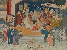 Tapestry Panel with Reception Scene, 19th century. Qing dynasty (1644–1911). China. The Metropolitan Museum of Art, New York. Gift of Susan Dwight Bliss, 1954 (54.189.10a–e)