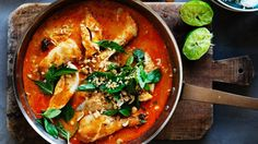 Quick red curry of chicken