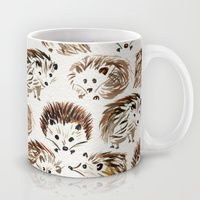 Coffee Mugs featuring Hedgehogs by Cat Coquillette