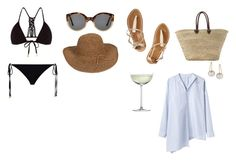 """Saint-Tropez, Côte d'Azur"" by valentinaforte ❤ liked on Polyvore featuring Illesteva, Monsoon, ELIZABETH HURLEY beach, K. Jacques, FREDS at Barneys New York, Crate and Barrel, Y's by Yohji Yamamoto and Aurélie Bidermann"