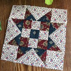 Betsy's Best .....quilts and more: Week 47 Moda Block Heads Starry 9 Patch by Lisa Bongean