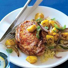 Mango and Paprika Pork Chops Recipe | MyRecipes.com