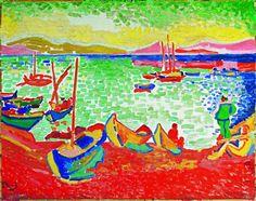 André Derain (1880-1954), Bateaux dans le port de Collioure, 1905,   Huile sur toile, 72 x 91 cm, © 2012, ProLitteris Zurich / Photo : Peter Schälchli