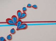 AZLINA ABDUL: Two - tone quilling hearts....