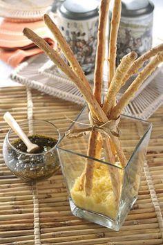 Palitos de pan con queso parmesano