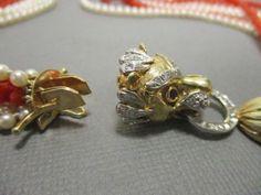 Vintage-14K-Diamond-Coral-Bead-Pearl-Necklace-17  $699