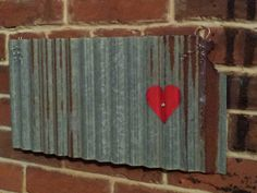 LOVE YOUR STATE Barn Tin with Heart!  Junk Rusty wall decor home country by whattawaist on Etsy https://www.etsy.com/listing/230293751/love-your-state-barn-tin-with-heart-junk
