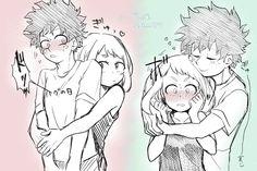 My Hero Academia Episodes, My Hero Academia Shouto, Hero Academia Characters, Anime Love Couple, Cute Anime Couples, Deku X Uraraka, Anime Couples Drawings, Naruto Funny, Drawing Reference Poses
