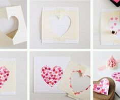 Valentine's Day is coming up and we need a valentines day cards, we'll give you a few ideas on how to do it yourself valentines day card. To create your own this valentines day cards is easy and simple. Homemade Valentines Day Cards, Valentines Day Presents, Valentine Greeting Cards, Valentines Diy, Homemade Cards, Diy Craft Projects, Crafts For Kids, Heart Cards, Handmade Birthday Cards