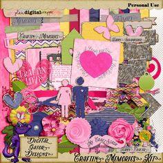 Craftin' Memories Kit by Digital Gator Designs @Plaindigitalwrapper.com