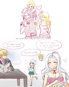 Natsu x Lucy, Laxus x Mirajane. Well i halfway ship laxus and mirajane but i…
