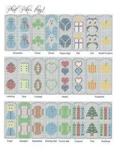 Plant Pokes (Long) - Quick and Easy PC Projects Easy Cross Stitch Patterns, Simple Cross Stitch, Cross Stitch Flowers, Plastic Canvas Books, Plastic Canvas Crafts, Plastic Canvas Patterns, Diy Canvas, Canvas Frame, Plant Covers