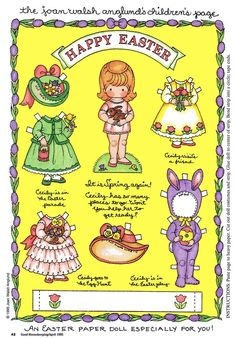 Makes me wish I was a little girl again! FREE Easter paper dolls
