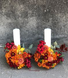 #lovely #couple #autumn #wedding #candles #special #moments #flowers #colors #happy #bride #groom #nofilter #flowerdipity #event Autumn Wedding, Pillar Candles, Bride Groom, Events, Couple, Wreaths, Happy, Decor, Decoration