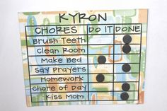Summer's here and it's time to break out the chore chart, if you haven't already. Kassey from Everything Nice made this Chore Chart using sheet. Chore Chart Kids, Chore Charts, Kids And Parenting, Parenting Hacks, Chore Board, Organization Skills, Raising Girls, Charts For Kids, All Kids