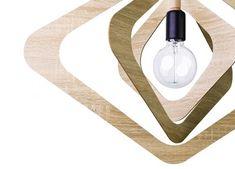 Μοντέρνο ξύλινο φωτιστικό Ø64