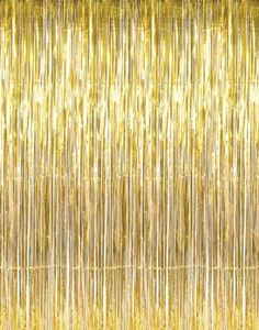 Amazon.com - 3' x 8' Gold Tinsel Foil Fringe Door Window Curtain Party Decoration