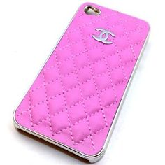 @Jillian DeMatteo even better! - Limited Edition Chanel Logo Pink Leather Case for Apple Iphone At 4g with Silver Coated Bumper