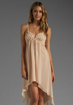 LADAKH Swansten Dress in Apricot - Sale