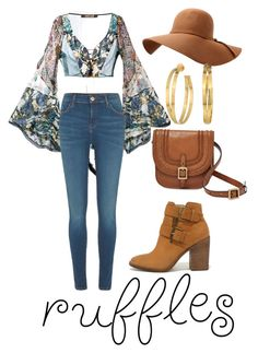 """Ruffles is in the air 💃"" by fhufyky on Polyvore featuring Roberto Cavalli, River Island, FOSSIL, Steve Madden and Tory Burch"