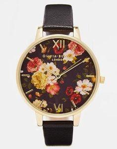 Image 1 ofOlivia Burton Winter Garden Floral Watch