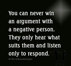 a negative person is called