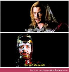 Lol that's why Iron Man and Thor are the best Avengers Marvel Funny, Marvel Memes, Marvel Dc Comics, Avengers Memes, Avengers Imagines, Marvel Universe, Fangirl, Dc Memes, Fandoms