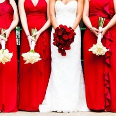 A beautiful red wedding with vibrant details. (I totally would love this for my church wedding)