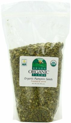 Braga Organic Farms Pumpkin Seeds, Roasted and Salted, 2 Pound - http://goodvibeorganics.com/braga-organic-farms-pumpkin-seeds-roasted-and-salted-2-pound/