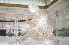 """LE BON MARCHE,Paris, France, presents: ER XI , """"Twenty-three ethereal sculptures of mythological creatures in bamboo and rice paper"""", creative by Ai Weiwei, pinned by Ton van der Veer"""